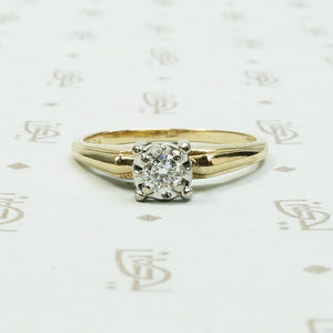 Architectural Mid Century Diamond Solitaire