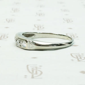 Refined Diamond Band in 18k White Gold