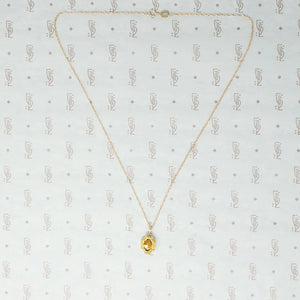 Beautifully Engraved Art Deco Gold and Diamond Pendant