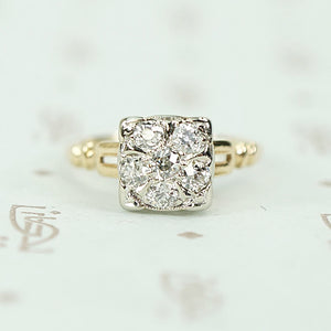 Orange Blossom Diamond Cluster Ring