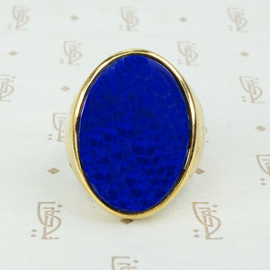 Massive Vintage Lapis Ring in 14k
