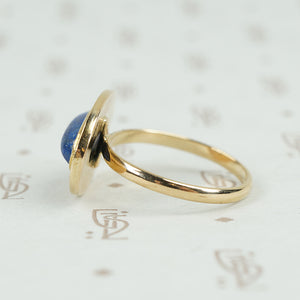 Lapis Cabochon Yellow Gold Ring
