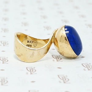 Jens Asby Lapis and gold ring