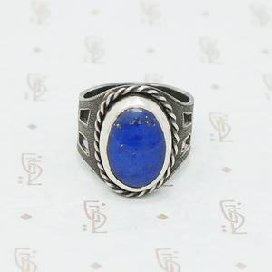 handmade lapis and sterling ring