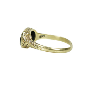 Larter and Sons Green Gold Gem set Ring - Gem Set Love