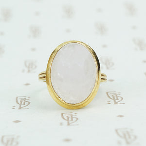 lavender jade in 14k gold ring simple bezel