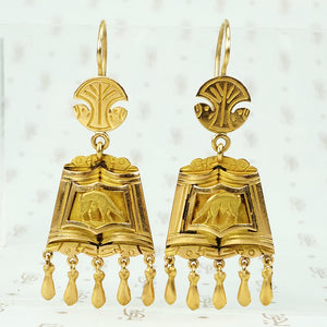 18k gold peruvian llama earrings