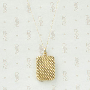 Jaunty Striped Victorian Locket