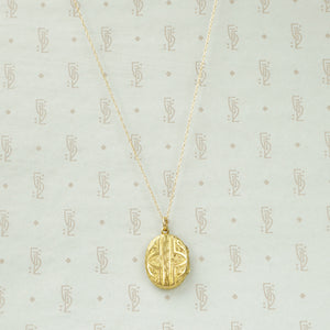 Victorian Gold Locket with Anchor
