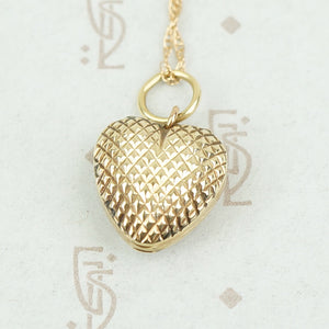 Fabulous Faceted Heart Locket