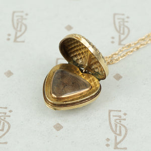 Fabulous Faceted Heart Locket with Hairwork
