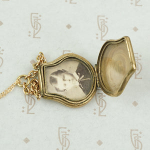 Unusual Victorian Purse-Shaped Locket