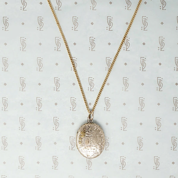 Victorian Gold Sheet Flower Locket