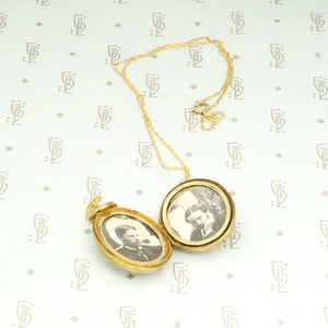 Lovely English Locket with Wonderful Original Photos