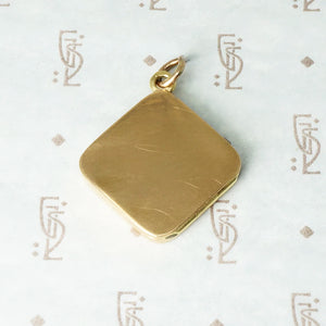 Rosey Gold Art Deco Locket