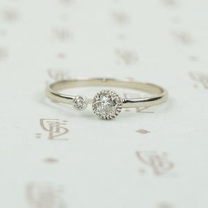 The Lumiére Double Diamond Engagement Ring