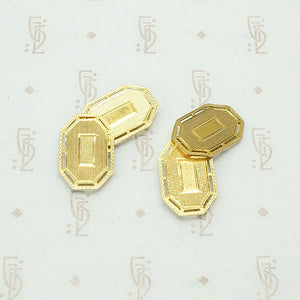 Vintage Gold Cuff Links with Flair