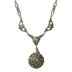 Vintage Sterling and Marcasite Necklace