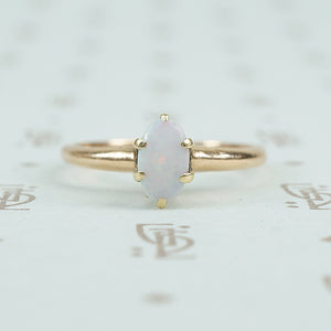 marquis  opal gold solitaire ring