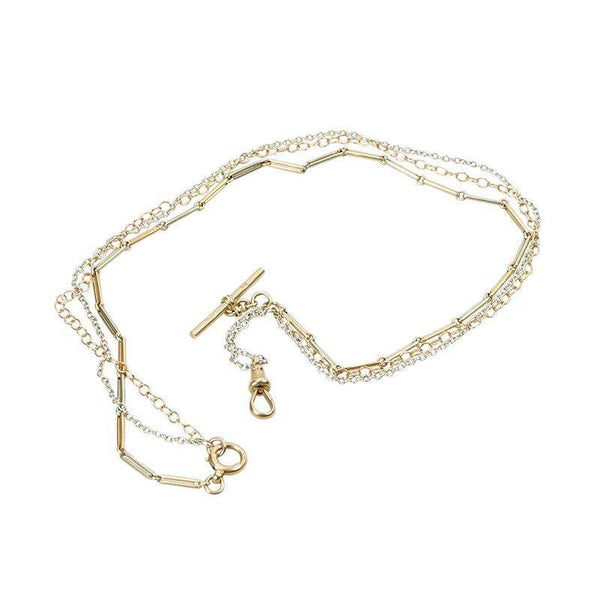 Rose and White Gold Watch Hook Necklace from the Married Chains Collection