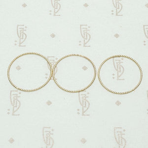 Delicate Gold Micro Twist Bands by GSL