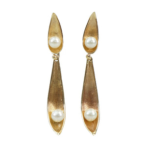 The 1960's Golden Pendulum Earrings