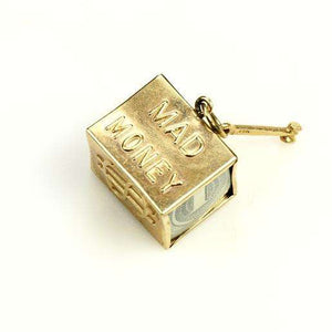 1950s 14k Gold Mad Money Charm
