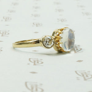 LUNA Moonstone and Diamond Ring