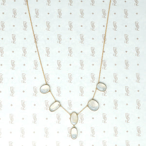 moonstone necklace in gold