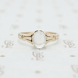 rose gold moonstone ring victorian