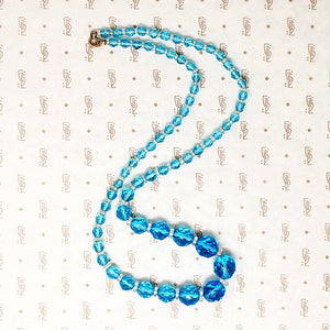 Electric Aquamarine Art Deco Beads