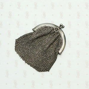 Wee French Purse in Silver Chain Mail