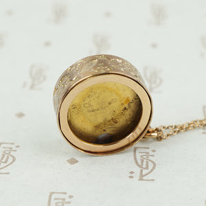 Sweet Engraved Ring Locket