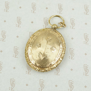 Pocket Watch Style Victorian Locket