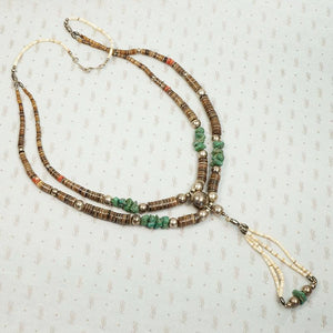 Incredible Necklace with Silver Turquoise & Heishi Beads