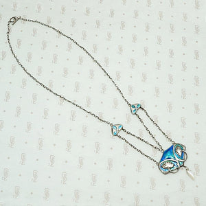 Exquisite Enamel Murrle Bennett Swag Necklace