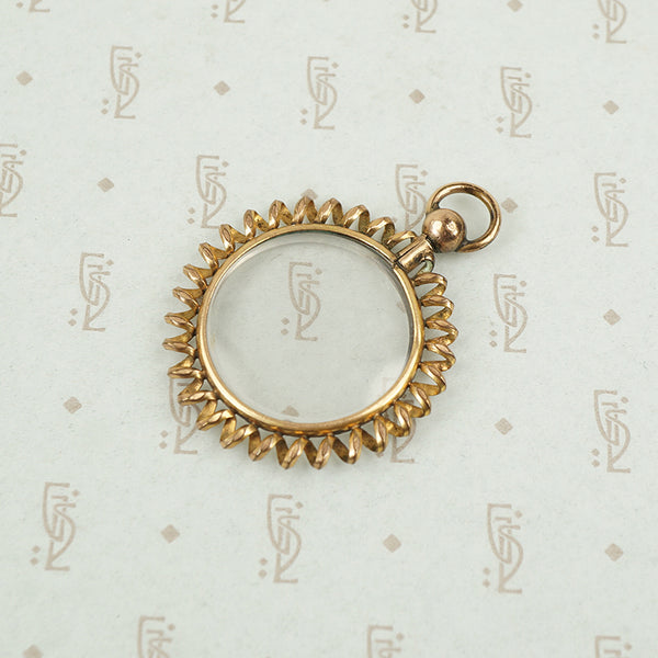 Spiral Framed Double-Sided Locket