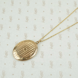 Art Deco Locket in Rosey Gold Filled
