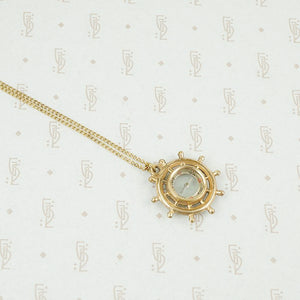 Vintage 19th century Ships Wheel Compass Pendant