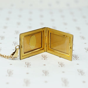 Two Tone Engraved Art Deco Locket