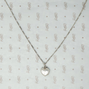 Adorable Engraved Silver Heart Locket