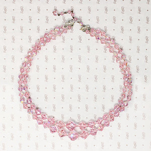 Pretty in Pink AB Glass Bead Necklace