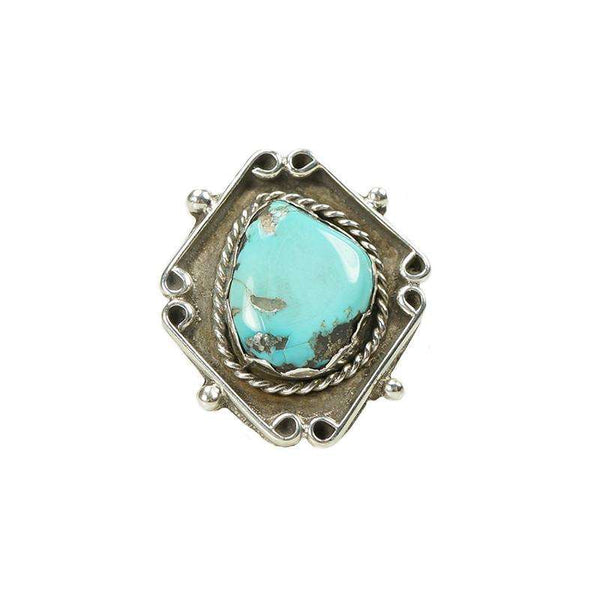 Vintage American Silver and Turquoise Ring
