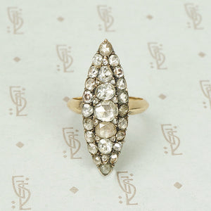The Best Sparkling Navette Rose Cut Diamond Ring