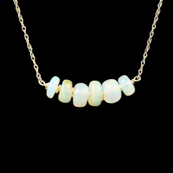 The Olio Arc Necklace in Opals by brunet