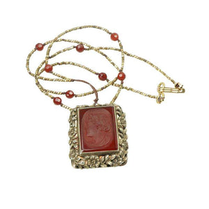 A Carnelian and Cut Steel Knotted Necklace by Ancient Influences