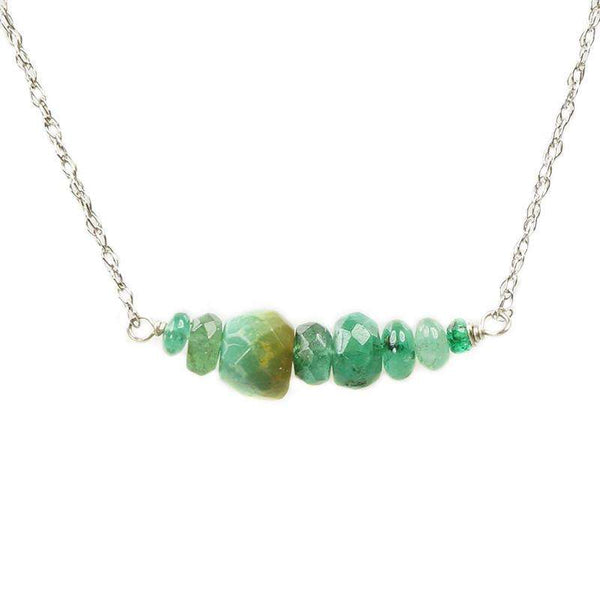 The Olio Arc Necklace in Emeralds & Turquoise by brunet