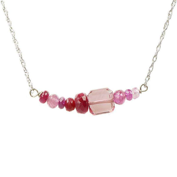 The Olio Arc Necklace in Reds & Pinks by brunet