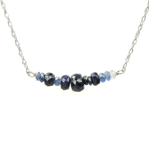The Olio Arc Necklace in Blue Sapphires by brunet