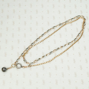 The Long Niello and Rose Gold Chain